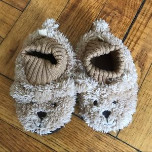 GAP Baby Fuzzy Bear Slippers